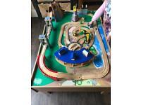 Children's wooden Train Set & Table
