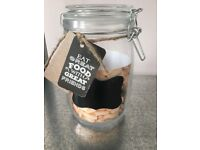 Storage Jars with Chalkboard label - WEDDING