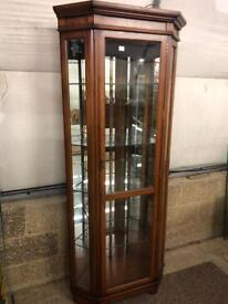 Mahogany glass unit