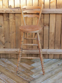 Wooden Bar Stool. Good condition.
