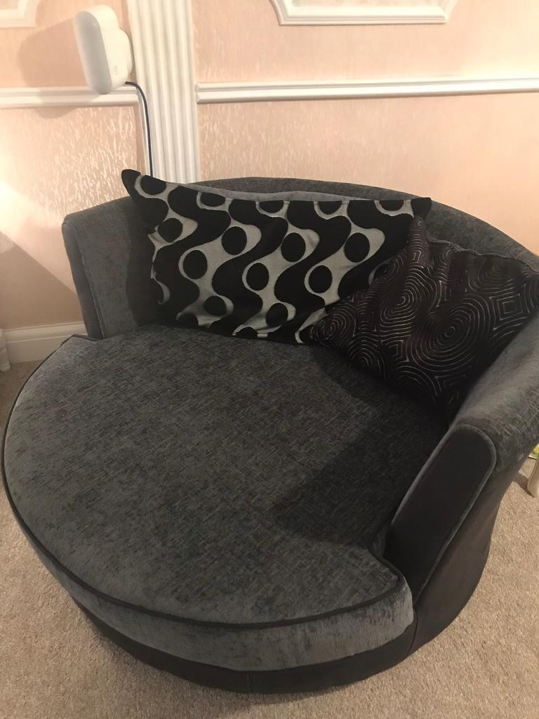 Dfs Round Cuddle Chair Swivel In Ilford London Gumtree