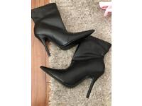 Peace + Love Black Pointed Heeled Ankle Boots brand new size 5. £15 Ono.