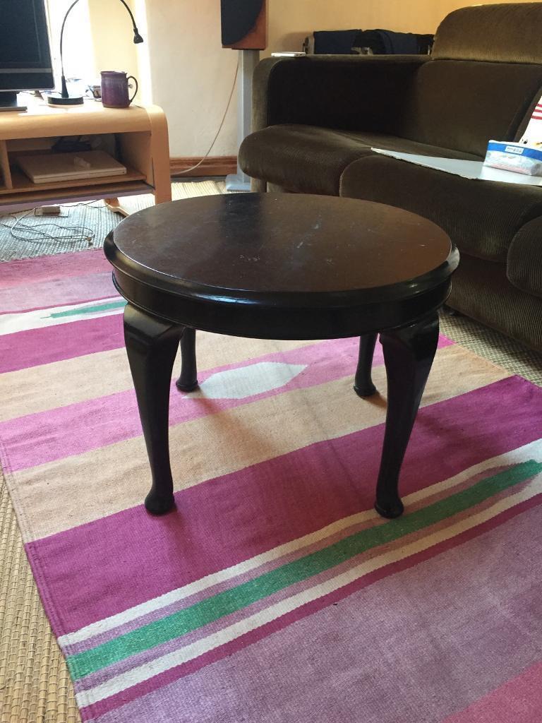 Stupendous Round Black Coffee Table Wooden In Belper Derbyshire Gumtree Lamtechconsult Wood Chair Design Ideas Lamtechconsultcom
