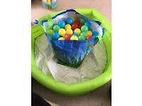 Paddling pool/ball pit with balls