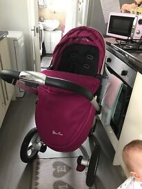 Silver cross surf 2 Pram and carry cot