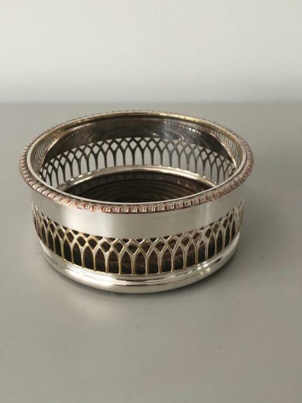 LOVELY SILVER PLATED WINE BOTTLE COASTER
