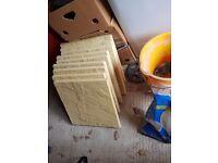 25 Glendinning Buff Riven slabs