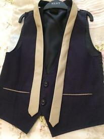 Boys waist coat and tie