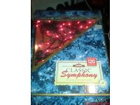 Christmas tree lights 120 red lights per box x 2 boxes available- indoor use