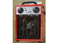 3KW Industrial Fan Heater 240v