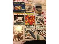 Bundle of 9 kids books encyclopaedias