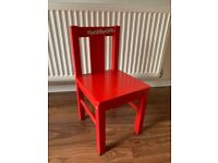 IKEA red child chair