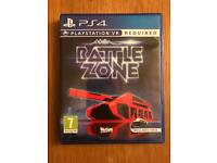 Battlezone PlayStation 4 (VR) - Like new
