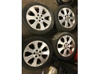 "4x Vauxhall Vectra C 17"" Alloy Wheels And Tyres"