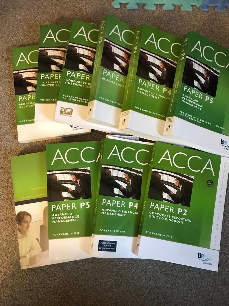Old syllabus ACCA study books