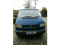 Blue VW T4 Transporter 1.9TD twin sliding doors with seats in back ready for conversion
