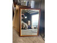 Wooden surround Mirror In Very Good condition