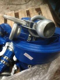 Lay flat Hose with Bauer couplings 4 inch 4 x 25 m NEW
