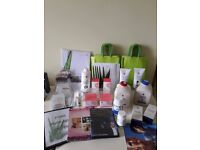 Forever Living products and marketing materials.