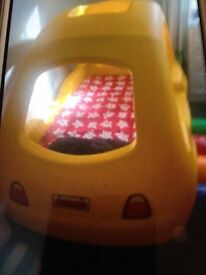 Kids yellow little tikes car bed