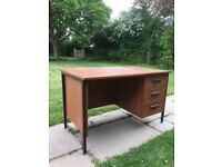 Office study desk with drawers