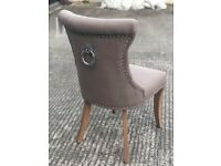 Brand new knockerback buttoned four chairs-£400 for all