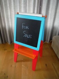 Kids Double Sided Wooden Easel, ELC, Chalk board and White magnetic