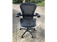 Herman miller aeron size B black fully loaded