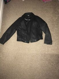 Black leather effect jacket