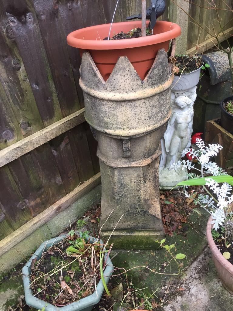 X3 old chimney pots