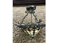 Beautiful Large Tiffany Falling Water ceiling lamp