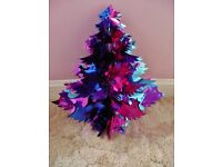 Pink Blue and Mauve Foil Christmas Tree Ceiling Hanging Decoration Xmas