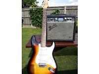 G-DEC 15W amp by Fender plus Squier By Fender