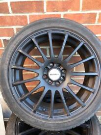 17 inch matte black Calibre rapide alloys