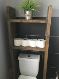 Rustic Over Toilet Shelving