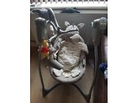 Swinging/music playing baby chair for sale