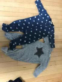Next fleecy sleepsuits