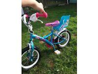 Girls 14inch bike with stabilisers