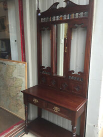Hall Stand in good condition. Reproduction , good quality and design. Free local delivery.
