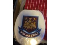 Toilet seat west ham £15 brand new has more pic when opened up