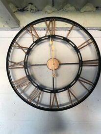 Black and gold giant wall clock