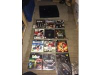 Slim Sony PS3 160gb and games