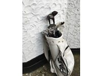 Golf clubs with bsg and balls