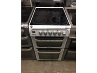 Hotpoint HUE53PS Ceramic Electric Cooker with Double Oven