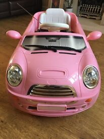 PINK KIDS MINI RIDE ON BATTERY/ELECTRIC REMOTE CAR