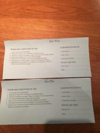 Ragdale Hall Treatment Vouchers. 2 for the price of one