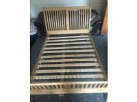 Solid oak double bed frame only in excellent condition