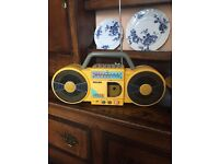 "Vintage Philips ""Moving Sound"" Radio:Cassette Player"