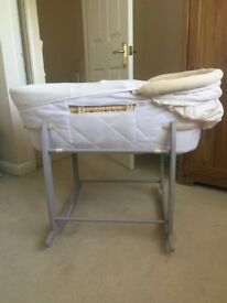 Grey Rocking Moses Basket Stand