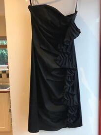 Ted baker black satin dress size 1